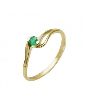 9ct Yellow Gold & Emerald Ring