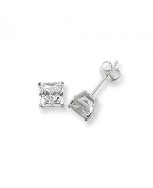 Silver & Princess Cut Cubic...