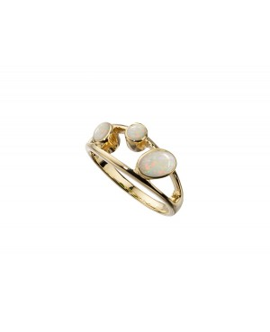 9ct Yellow Gold & Opal 3...