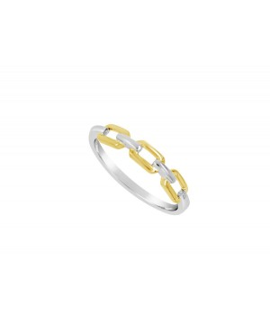 9ct White and Yellow 'Chain...