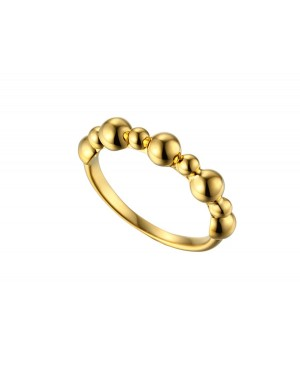 9ct Yellow Gold Bobble Ring