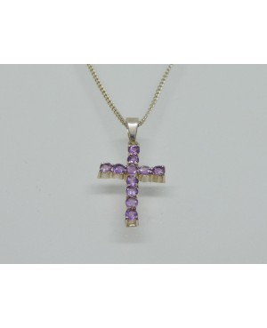 Silver & Amethyst Cross