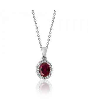 Silver & Cubic Zirconia Red...