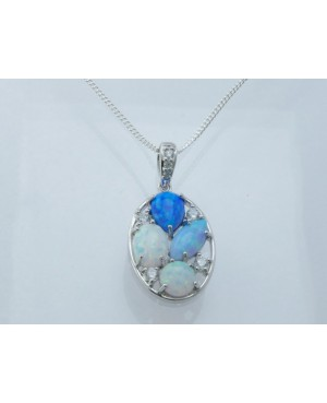 Silver & Reconstituted Opal...
