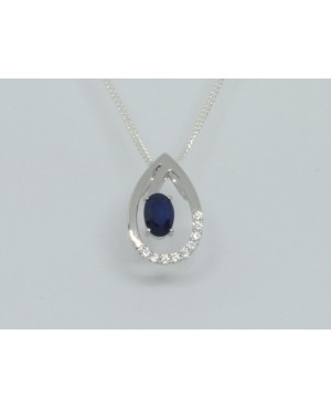 Silver & Sapphire with...
