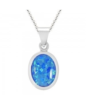 Silver & Synthetic Opal...