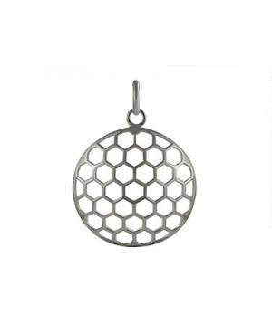 Silver Honeycomb Design...