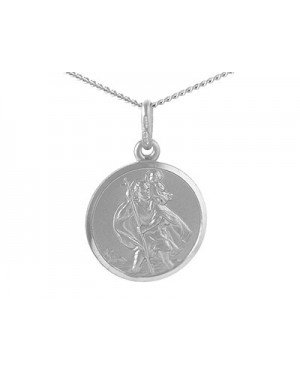 Silver Satin St Christopher...