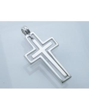 "Silver Cross & 18"" Chain"