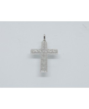 Silver Diamond Cut Cross