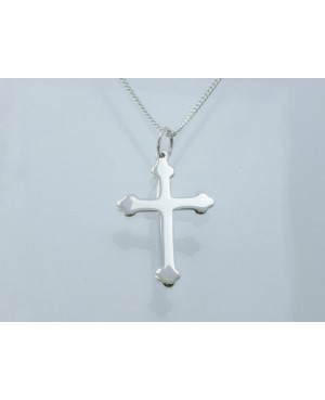 Silver Budded Cross...