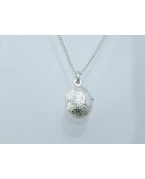 Silver Oval Locket 19x12mm