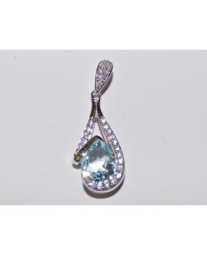 Silver & Topaz with Cubic...