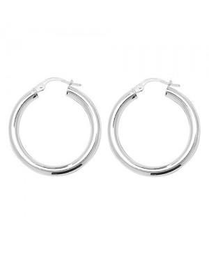 Silver Hoop Earrings 3mm