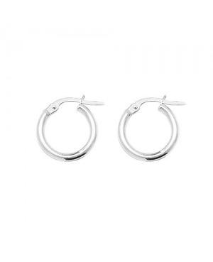 Silver Plain Hoop Earrings...
