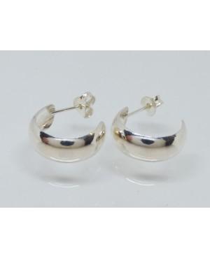 Silver Hoop Stud Earrings