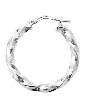 Silver Twisted Hoop...