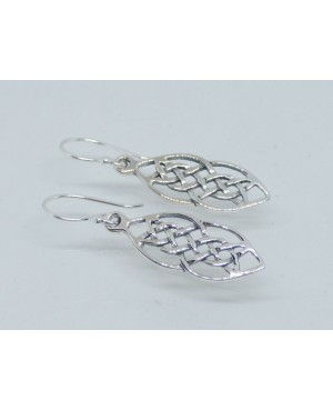 Silver Celtic Drop Earrings