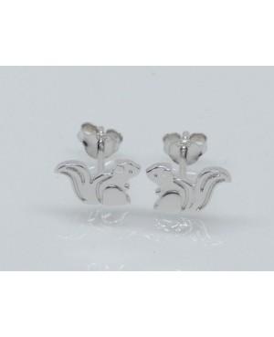 Silver Squirrel Stud Earrings