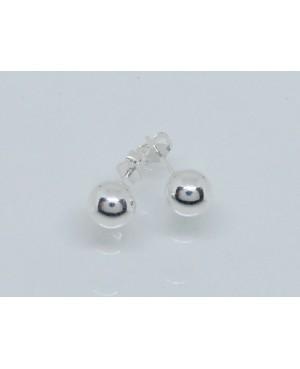 Silver Stud Earrings 7mm