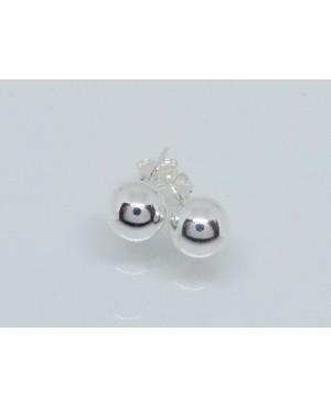 Silver Stud Earrings 8mm