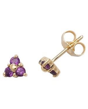 9ct Yellow Gold & Amethyst...