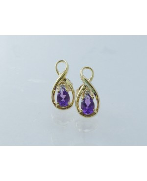 9ct Gold Amethyst & Diamond...