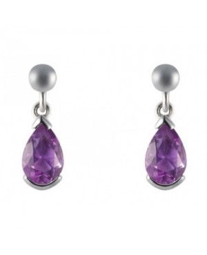 9ct White Gold & Amethyst...