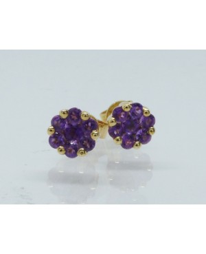 9ct Yellow Gold Amethyst 7...