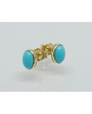 9ct Yellow Gold & Turquoise...