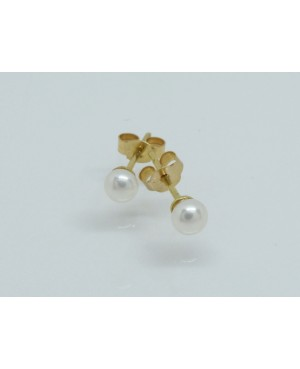 9ct Yellow Gold & Freshwater Pearl Stud Earrings 4.5mm