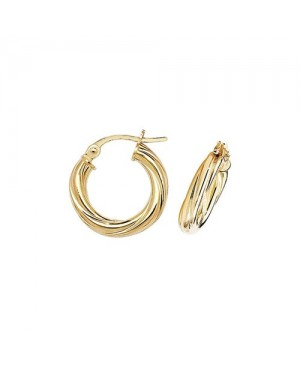 9ct Yellow Gold Twisted...