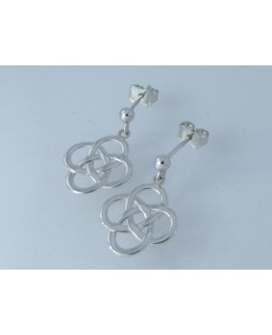 9ct White Gold Celtic Drop...
