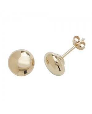 9ct Yellow Gold Button Stud...