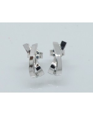18ct White Gold Stud Earrings