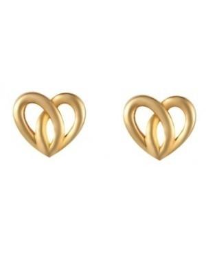 9ct Yellow Gold Heart Stud...