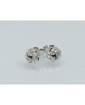 9ct White Gold Knot Stud...