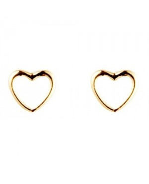 9ct Yellow Gold Heart Stud...