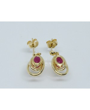 9ct Yellow Gold & Ruby Stud Earrings