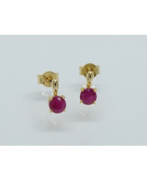 9ct Yellow Gold & Ruby Stud...