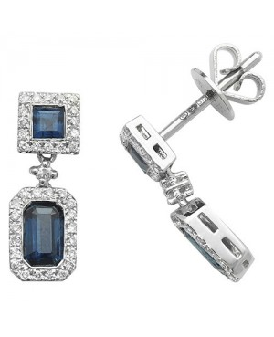 9ct White Gold & Diamond...