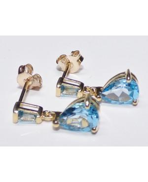 9ct Yellow Gold & Topaz Drop Earrings