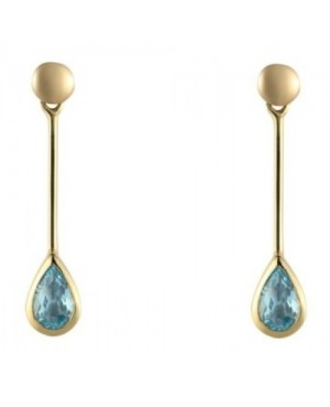 9ct Yellow Gold & Topaz Drop Earrings