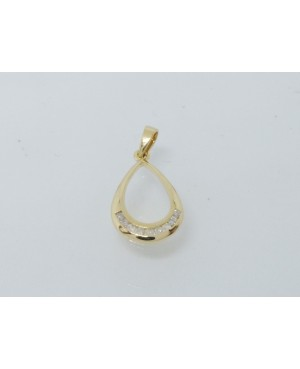 9ct Yellow Gold & Diamond Pendant