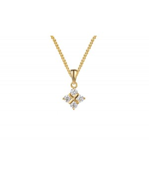 9ct Yellow Gold & Diamond...