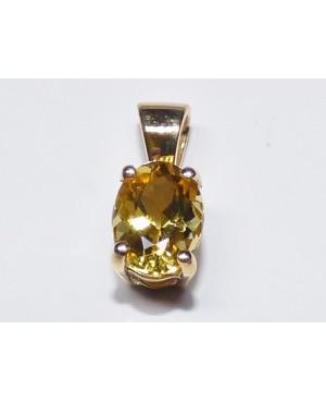 9ct Yellow Gold & Yellow Beryl Pendant