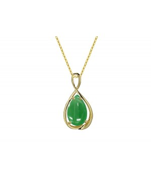 9ct Yellow Gold & Green...