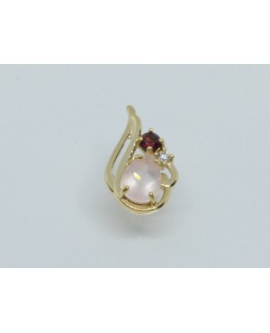 9ct Yellow Gold Rose Quartz...