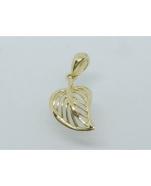 9ct Yellow Gold Mesh Leaf...