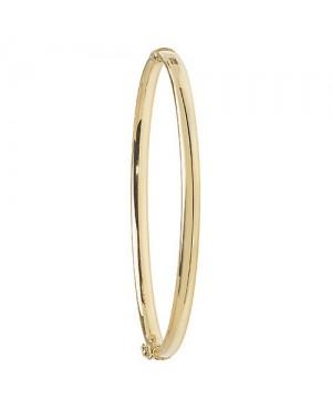 9ct Gold Plain Hinged Bangle